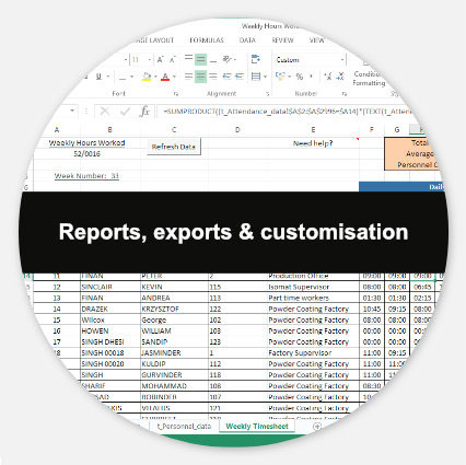 Reports, Exports & Customisation